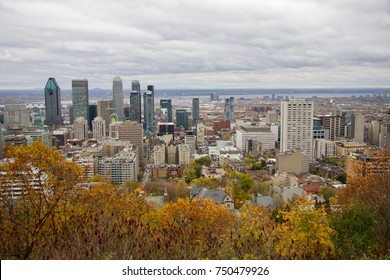 Montreal City skyline view from Mount Royal. Canada