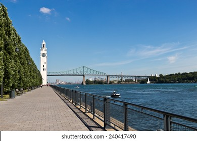 The Montreal Clock Tower in the Old Port of Montreal, Canada