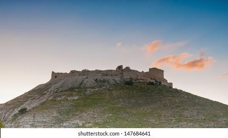Montreal, Crusader castle built in 1115 by Baldwin I of Jerusalem in Shoubak, Jordan