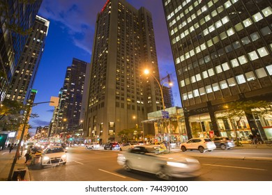 Montreal downtown blue hour
