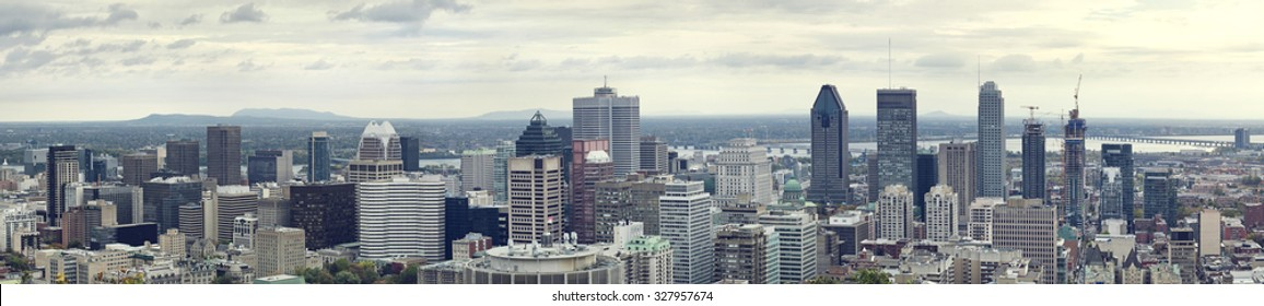 Montreal downtown skyline