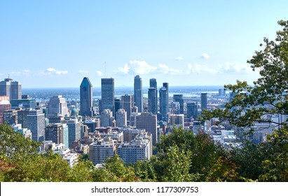 Montreal downtown and skyline with scenic view