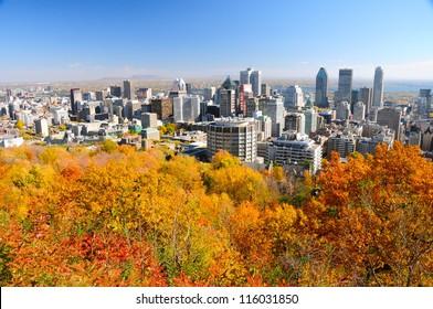 Montreal during foliage season, Quebec, Canada