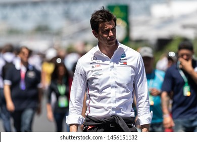 Montreal Friday June 7, 2019. Mercedes AMG team principal, Toto Wolff walking the paddock at Circuit Gilles Villeneuve, Canada.