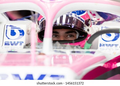 Montreal Friday June 7, 2019. Racing Point F1 pilot (18) Lance Stroll of Canada sitting in the RP19 ahead of practice session 1 at Circuit Gilles Villeneuve, Canada.