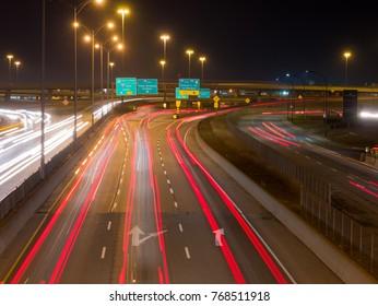Montreal highway, long exposure