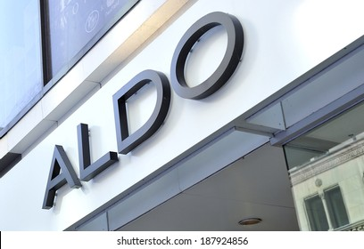 MONTREAL - JULY 14: An Aldo shoes store sign is photographed on July 14, 2012 in Montreal, Quebec, Canada