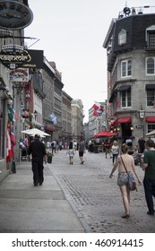 MONTREAL - MAY 27, 2016: Old Montreal  is the oldest area in the city of Montreal, Quebec, Canada, with a few remains dating back to New France.