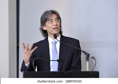 MONTREAL - MAY 4: The American conductor and opera administrator Kent Nagano makes a speech during a press conference, on May 4, 2011 in Montreal, Quebec, Canada.