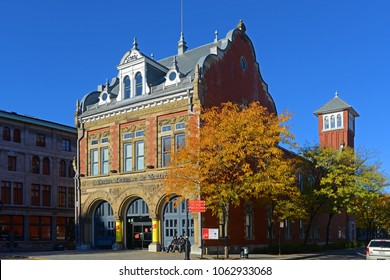 MONTREAL - NOV 2, 2014: Centre d`histoire de Montreal in old town Montreal, Quebec, Canada. The museum displays the history of Montreal.