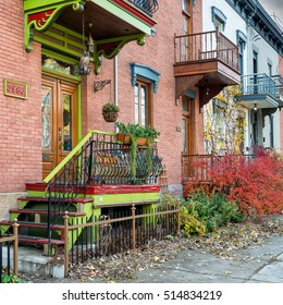 MONTREAL - NOVEMBER 12 : The Plateau-Mont-Royal in Montreal,QC on November 12,2016. It is the most densely populated borough in Canada, with 101,054 people living in an 8.1 square kilometre area