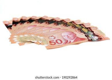 MONTREAL - NOVEMBER 19: Some Canadian fifty dollar bills are photographed on November 19, 2012 in Montreal, Quebec, Canada.