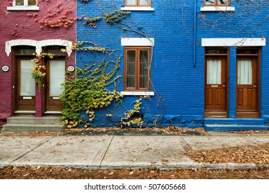MONTREAL - OCTOBER 30 : The Plateau-Mont-Royal in Montreal,QC on october 30,2016. It is the most densely populated borough in Canada, with 101,054 people living in an 8.1 square kilometre area