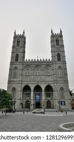 Montreal, Quebec / Canada- 05 24 2013: A view of the Notre-Dame Basilica of Montreal