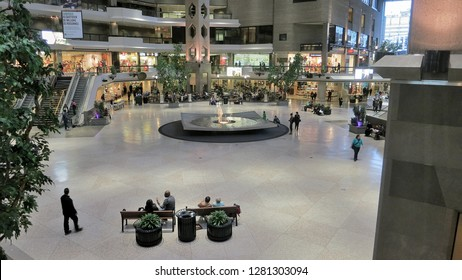 Montreal, Quebec / Canada - 05 24 2013: A view of the Complex Desjardins in downtown Montreal