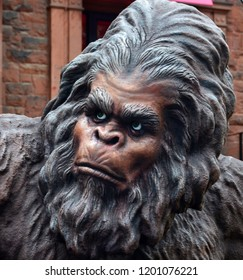 MONTREAL QUEBEC CANADA 06 19 2013: Bigfoot puppet, Bigfoot is the name given to  hominid-like creature that is said to inhabit forests, mainly in th Pacific Northwest region of North America