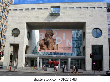 MONTREAL QUEBEC CANADA 08 20 2015: The Montreal Museum of Fine Arts (MMFA) Jean-Noel Desmarais Pavilion It is Montreal's largest museum and is amongst the most prominent in Canada
