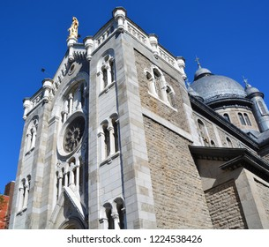 MONTREAL QUEBEC CANADA 08 21 2015:  Chapelle Notre-Dame de Lourdes chapel was designed by  Napoleon Bourassa. this Romanesque gem was built by the Sulpicians to cement their influence in Montreal