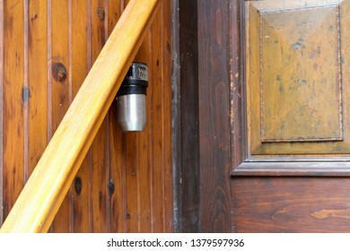 Montreal, Quebec / Canada - April 16 2019: key safe locks for Airbnb short term rental apartments are installed everywhere in the Plateau Mont Royal, one of the trendy central neighborhoods of city.