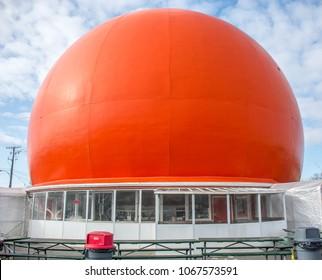 Montreal, Quebec / Canada- April 2nd 2018: The Mythical Orange Julep Fast Food Restaurant.