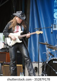 Montreal Quebec Canada - July 4 2014 - Texarillo the blues rock band on stage Jazz International Festival