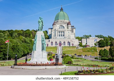 Montreal, Quebec, Canada - June 24, 2016: Saint Joseph's Oratory of Mount Royal (FR: Oratoire Saint-Joseph du Mont-Royal), Roman Catholic basilica and national shrine on Westmount Summit.