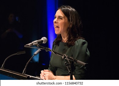 Montreal, Quebec / Canada - November 5 2017: The night Valerie Plante became Montreal's first female mayor on November 5, 2017.