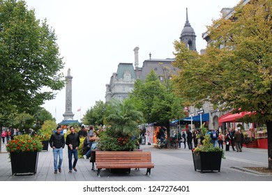 Montreal, Quebec, Canada - Oct. 4, 2018 : Cityscape at Montreal.