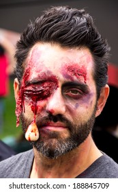 MONTREAL, QUEBEC, CANADA - OCTOBER 19 - Zombies at the 2013 Montreal Zombie Walk - 2013/10/19