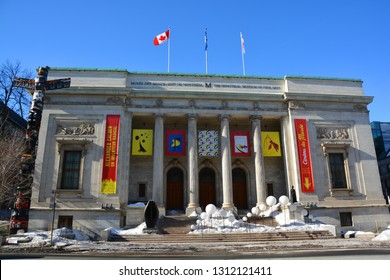 MONTREAL QUEBEC CANADA02 07 2019: The Montreal Museum of Fine Arts (MMFA) Michal and Renata Hornstein Pavilion It is Montreal's largest museum and is amongst the most prominent in Canada