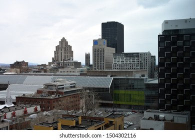 Montreal, Quebec/Canada - April 29, 2019: Panorama of the city