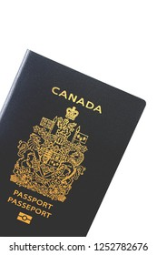 Montreal, Quebec/Canada - December 2, 2017:  One of the most coveted passports in the world, isolated on a white background for your text embedded in your story