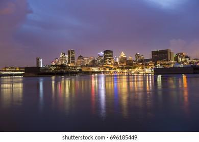 Montreal reflection at dusk