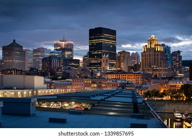 Montreal skyline in the evening