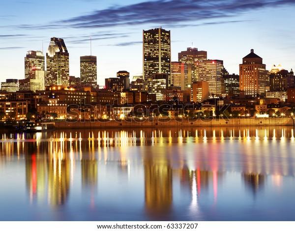 Montreal skyline at night