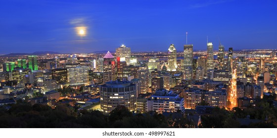 Montreal skyline at night, Quebec, Canada