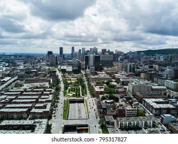 Montreal skyline from the sky