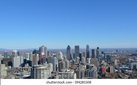 Montreal Skyline in spring