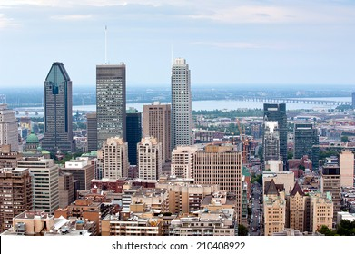 Montreal skyline -  view from Mount Royal at daytime