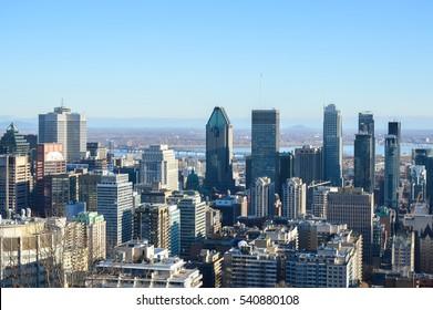 Montreal Skyline in winter, Canada