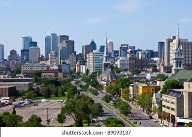 Montreal view by a Jacques-Cartier bridge in Montreal # 9