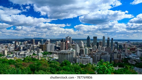 montreal view Mont-Royal summer