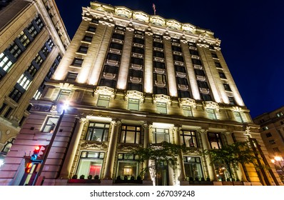 Montreal,Quebec,Canada- September 26-2013 Hotel St-Paul in old Montreal at night. Ana Borrallo is the creative mind behind the decor of the hotel St Paul, architectural jewel of Old Montreal.