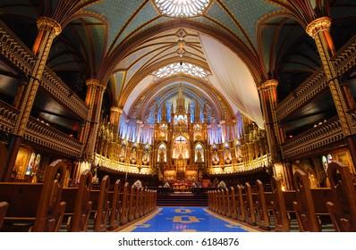 Montreal's Notre Dame Basilica.