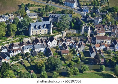 Montresor, France, aerial view