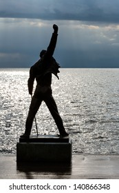 MONTREUX - MAY 25: Freddie Mercury statue unveiled on 25 November 1996,  made by Czech sculptor Irena Sedlecka  in Montreux in Switzerland on May 25, 2013