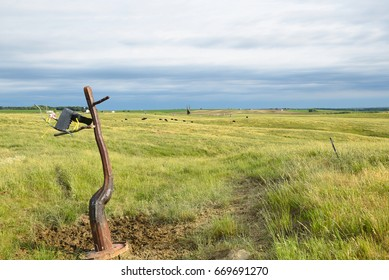 MONTROSE, SOUTH DAKOTA - JUNE 22, 2017: Porter Sculpture Park. There are over 50 sculptures on the 10 acre lot on the South Dakota Drift Prairie just off of Interstate 90.