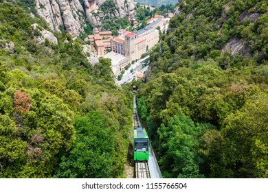 Montserrat Abbey Monastery Barcelona Spain Catalonia cable car travel traveling view travelling