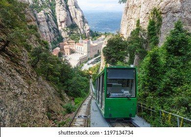 Montserrat Abbey Monastery cable car Barcelona Spain Catalonia travel traveling travelling