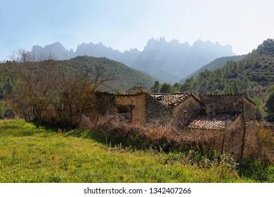Montserrat mountain view in Catalonia, Spain